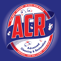 Advanced Cleaning & Restoration logo mark with initials and soap bubbles