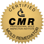 Badge for Certified Mold Remediator certification from Professional Mold Inspection Institute