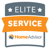 Badge from Home Advisor showing Elite Service Ranking