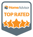 Badge from Home Advisor showing Top Rated Contractor