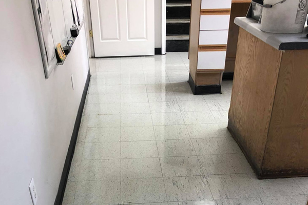 Tile flooring in office after professional cleaning and sealing in Johnson City, TN